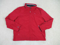VINTAGE Tommy Hilfiger Jacket Adult Large Red Flag Logo Full Zip Coat Mens A33*