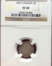 1892 5C Canada 5 Cents NGC Xf 40