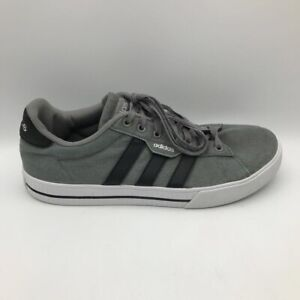 Adidas Mens Daily 3.0 Skateboarding Shoes Gray FW3270 Lace Up Low Top 8.5M