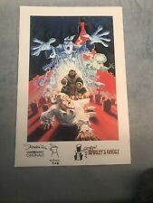 MARLEY'S GHOST NEW YORK COMIC CON PROMO PRINT SIGNED/SKETCH x2 ABOUT 11 x 17