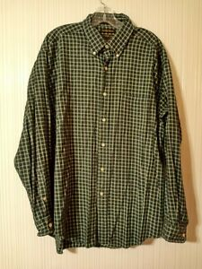 Alexander Julian Colours  Long Sleeve Mens XL  Blue Ridge Buttondown Green Plaid