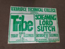 Screaming Lord Sutch 1976 Uxbridge Technical College Concert Poster (Tribe)