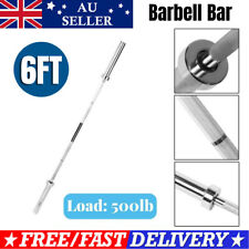 6ft Olympic Weight Barbell Bar Dumbell Bar Curl Bar Home Gym Lifting Bars 500lb