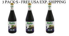 3 PACK'S - Biotta, Organic Elderberry Juice, 16.9 fl oz (500 ml)