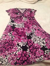 APT. 9 Women's Dress Size Petite M Purple Multi-color Short Sleeve