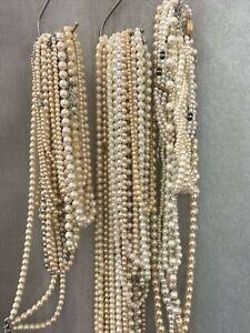 Pearls Strings Job Lot Wedding Decor Table Centre Gatsby 1920s Vintage #4156