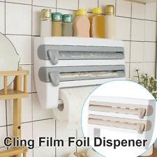 Plastic Wrap Rack 4-in-1 Towel Holder Kitchen Roll Dispenser Cling Film Foil