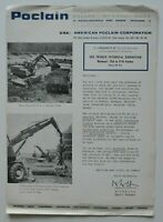POCLAIN Excavator TY45 Montreal Exhibition 1960s brochure - English - Canada