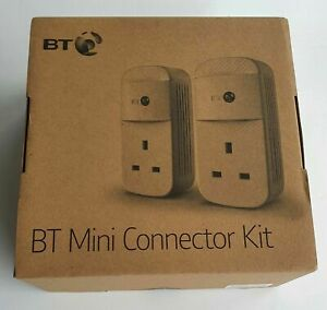 NEW BT MINI CONNECTOR  KIT 087372 Twin Powerline 1GB  Plugs - FREE DELIVERY