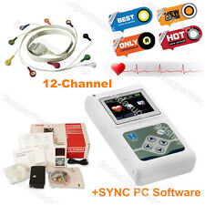 CONTEC 12 canali sistema ECG Holter ECG/ECG REGISTRATORE/analyz ER CE&FDA TLC5000