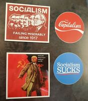 Bernie Sanders Funny Sticker Variety Pack Lot Of 4 Democratic Socialism USSR