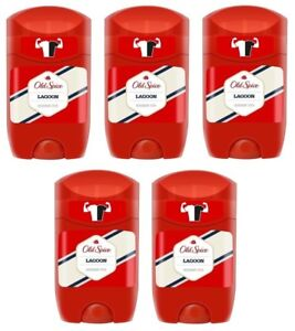 5x Old Spice Lagoon  Deodorant Solid Stick For Men 5x50ml