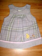 DISNEY WINNIE POOH CLASSIC PLAID BABY DOLL DRESS  6 MO~
