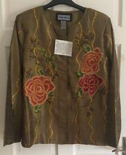 BNWT Beautiful Indigo Moon Waisted Flowered Jacket Size M