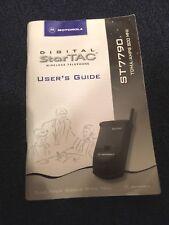 MOTOROLA VINTAGE DIGITAL STARTAC USER'S GUIDE MANUAL ST7790 TDMA/AMPS 800 MHZ