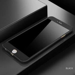 Shockproof 360° Hard Slim Case Cover Screen Protector iPhone SE 2020 Black