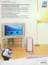Sony Vaio PCV-RXG408 2003 Magazine Advert #3153
