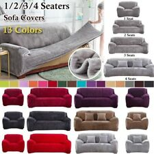 Sofa Couch Cover 1/2/3/4 Seater Plush Stretch slipcover Furniture Protector
