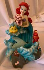 Vtg Disney The Little Mermaid Ariel Musical Water Fountain Figurine