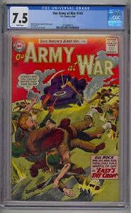 OUR ARMY AT WAR #143 CGC 7.5 WHITE PAGES