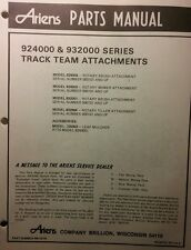 Ariens Team-Trac Implements Parts Manual 12pg Rotary Brush Mower Tiller 1979