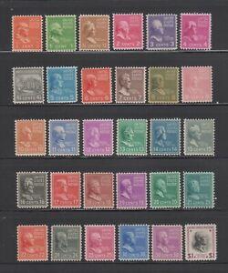 US,803-831,832,MNH,VF,PREXIE,1938 PRESIDENTIAL SERIES MINT NH,OG