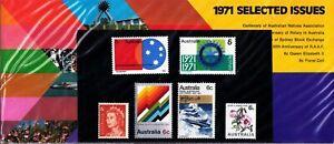 1971 Australian Sealed Selected issues Stamps Pack Set 6x 6c varieties - high CV