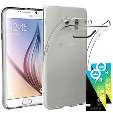 Samsung Galaxy S6 2x Panzerglas Echt Glas FOLIE Schutzfolie + TPU HÜLLE