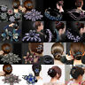 Women's Crystal Rhinestone Hair Clips Claw Clamp Bridal Hairpins Ponytail Holder