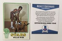 Willie Wise Signed Autographed 1973 Topps Card #245 BAS Beckett Certified ABA