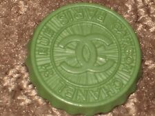 CHANEL  PARIS CAMBON CC LOGO FRONT AUTH GREEN  BUTTON 24 MM NEW