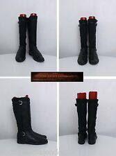 Attilio Giusti Leombruni Black Leather/Real Shearling Boots Italian Made UK6/39