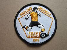 Oakland University 1987 Soccer Woven Cloth Patch Badge (L1K)