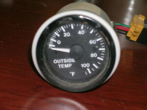 OUTSIDE TEMPERATURE GAUGE, BENTLEY TURBO R, SIMILAR CARS, UD71541