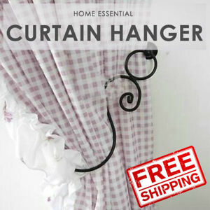 2x Large Metal Curtain Holdback Wall Tie Back Hooks Hanger Holder