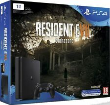 PS4 CONSOLE SLIM 1TB PLAYSTATION 4 NERA 2017 RESIDENT EVIL 7 EDITION IMBALLATA