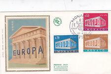 Monaco 1969 Euopa Silk FDC Unadressed VGC