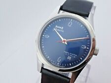 Vintage Men's HMT Janata Blue Dial Hand-Winding Wrist Watch Excellent Condition