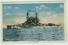 USS Wyoming Dreadnought Battleship Postcard