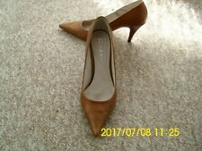 ladies women stiletto heel shoes, brown colour, size 5.5, by Next.