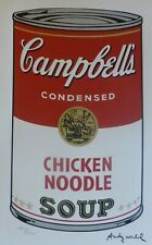 """ANDY WARHOL CAMPBELL'S SOUP I """"Chicken Noodle"""" SIGNED HAND NUMBERED LITHOGRAPH"""