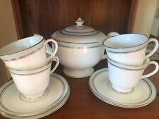 Royal Worcester HOWARD Sky blue RARE Teapot and 4 Cups and 4 Saucers