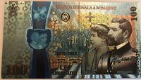 ROMANIA 100 lei 2018  Superb Polymer Banknote anniversary Great UNION Unire