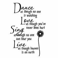 New Dance DIY Removable Art Vinyl Quote Wall Sticker Decal Mural Home Room Decor