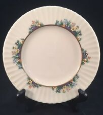 """Lenox Rutledge 6-3/8"""" Bread Plate Multi-Colored Enameled Flowers With Gold Ring"""