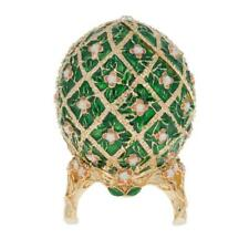 1907 Rose Trellis Royal Russian Egg 3.25 Inches