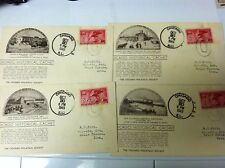 4 FIRST DAY COVERS CHICAGO HISTORICAL CACHETS 1949