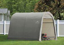 ShelterLogic 10x10x8 Round Economy Storage Shed Portable Garage Canopy 70435