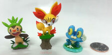 """Pokemon 1.5"""" Black & White XY Figures Chespin Fennekin Froakie Figure (Set of 3)"""