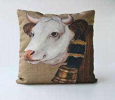 Housse de coussin motif vache décoration de montagne chalet rustique